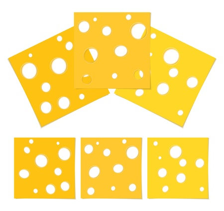 Slices of cheese Stock Vector - 13200863