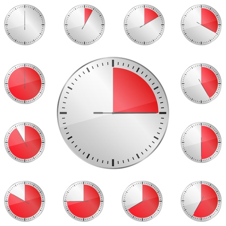 Red Timers Stock Vector - 13200877