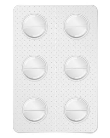 Pills in blister pack Stock Vector - 13200869