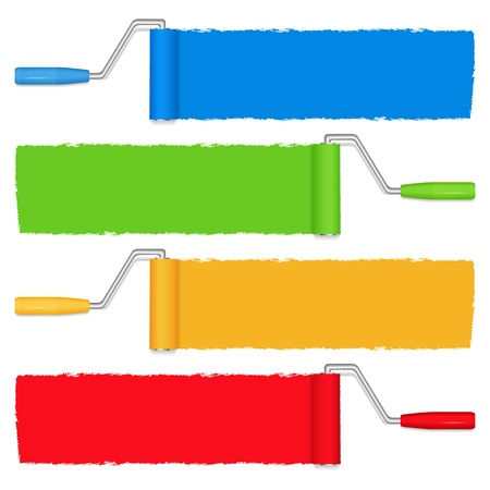 Paint rollers Stock Vector - 13200867