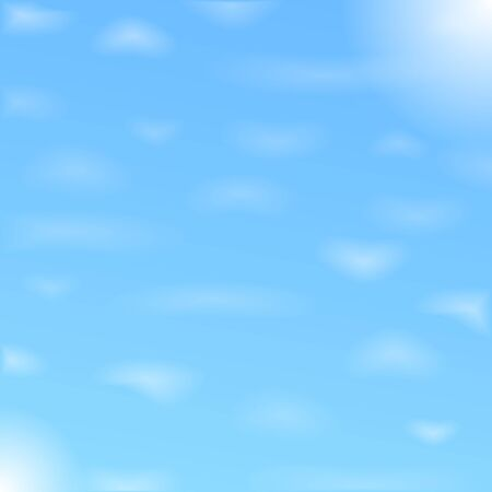 Blue sky with clouds, vector Vector