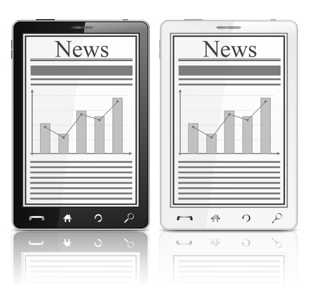 News on the screen of mobile phone Vector