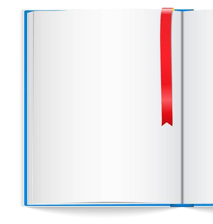 open notebook: Open book with bookmark Illustration