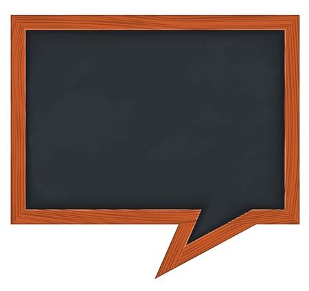 school classroom: Blackboard shaped as speech bubble