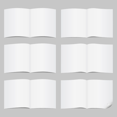 Set of open pages Vector