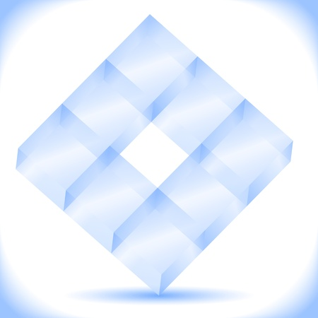 Transparent blue cubes Vector