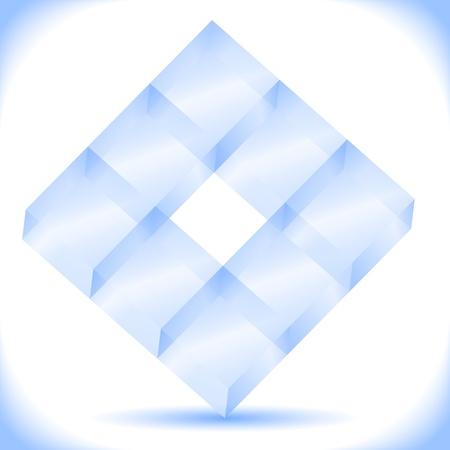 Transparent blue cubes Stock Vector - 13307534