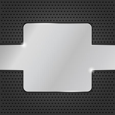 structure metal: Metal plate on black background Illustration