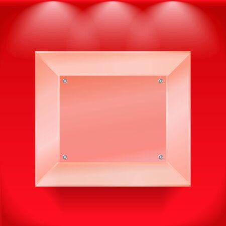 market place: Transparent glass showcase