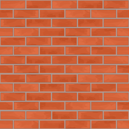 to brick: Ladrillo de la pared de fondo sin fisuras Vectores