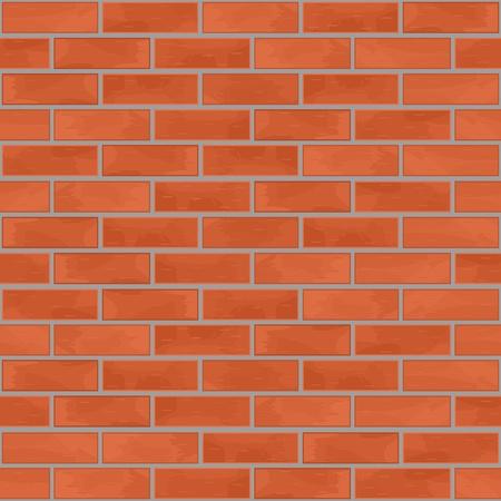 paredes de ladrillos: Ladrillo de la pared de fondo sin fisuras Vectores