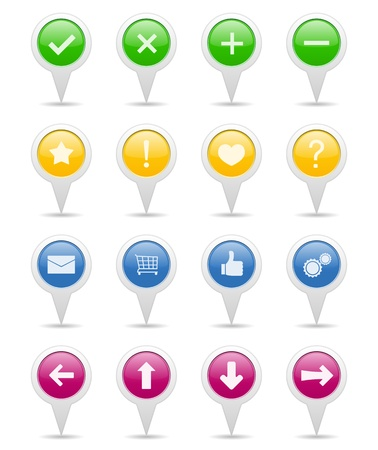Pointers with icons Stock Vector - 13423110