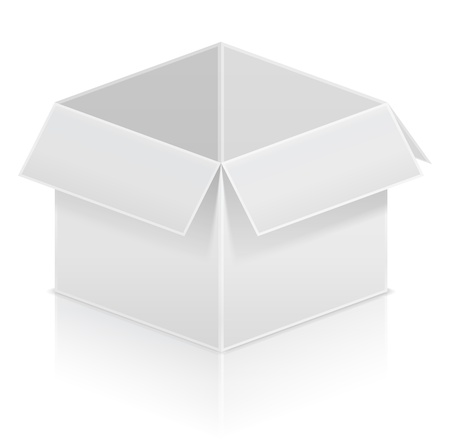 storage boxes: Cardboard box Illustration