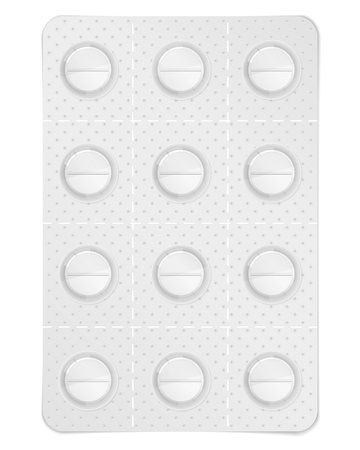 Pills in blister pack Vector