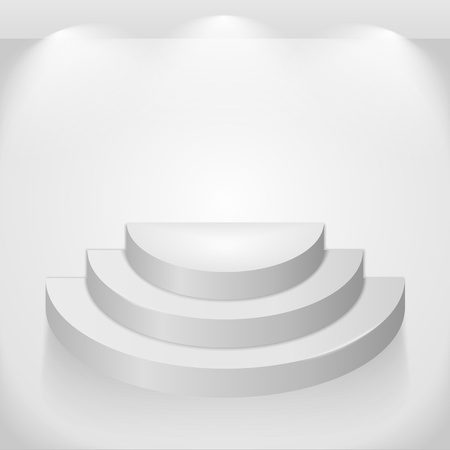 Round shelf Vector