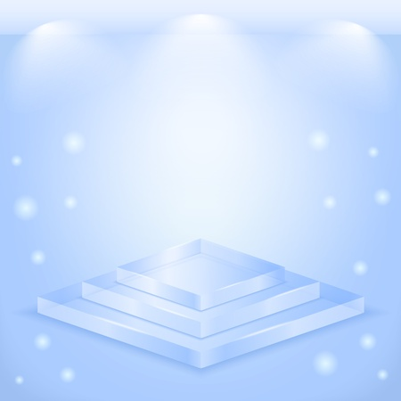 Transparent glass stage Vector