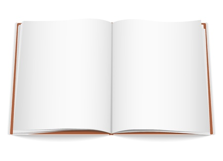 color pages: Open book Illustration