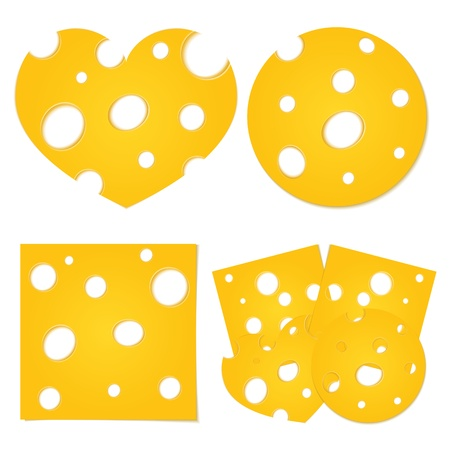 white cheese: Slices of cheese