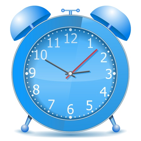 Blue alarm clock Stock Vector - 13516705