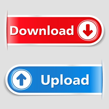 Download and Upload Buttons Stock Vector - 13516679