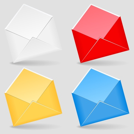 Open envelopes Vector