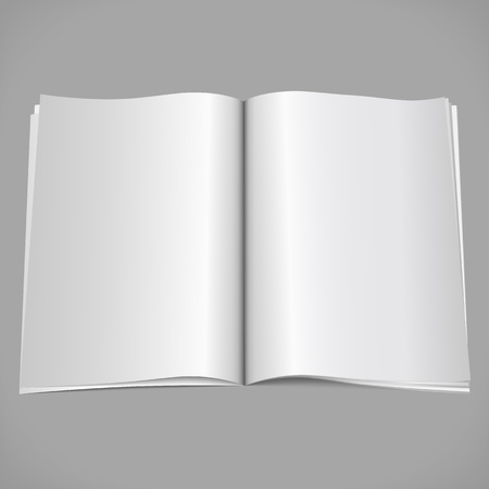 Blank open magazine Vector