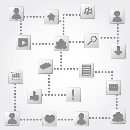 Social network concept Stock Vector - 13516674