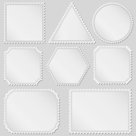 perforated stamp: Postage Stamps Illustration
