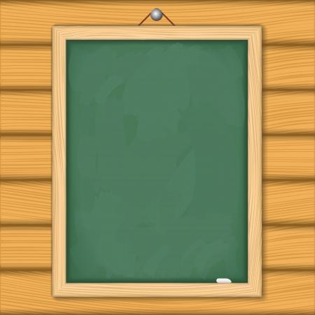 menu board: Blackboard on wooden wall