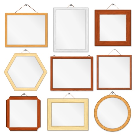 wall hanging: Wooden frames