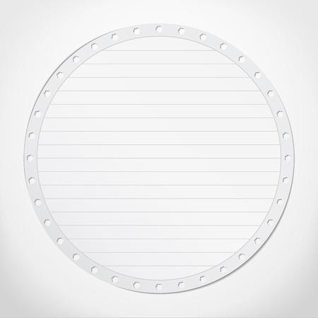 Paper circle Vector