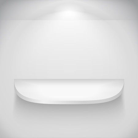 Shelf with rounded corners Vector