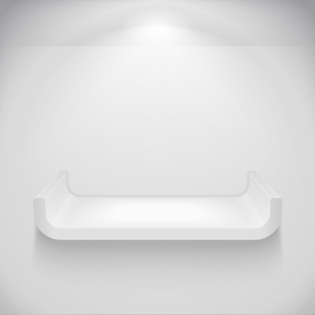 Gray shelf on the wall Vector
