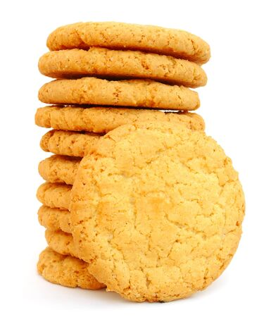 Stack of cookies isolated on white background Stock Photo - 13622825