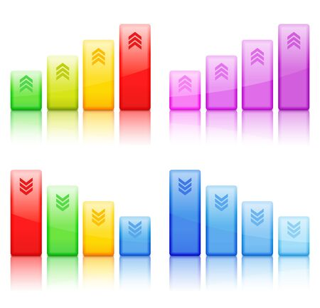 Bar graphs Stock Vector - 13723463