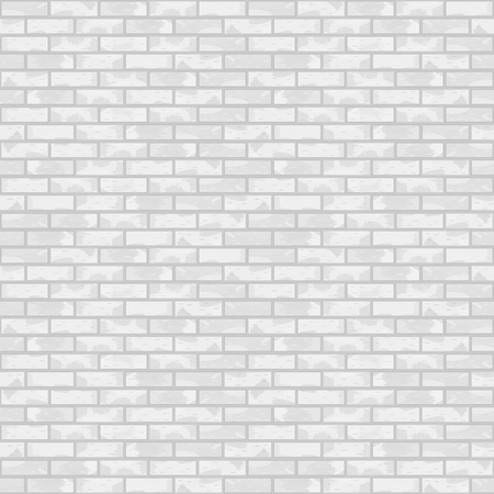 Seamless white brick wall Stock Vector - 13723639