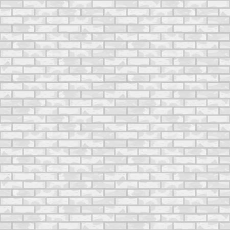 Seamless white brick wall Stock Vector - 13723639
