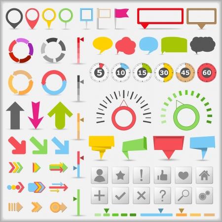 indicatore: Elementi di infografica Vettoriali