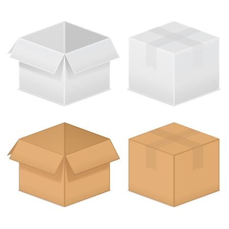 closed box: Cardboard boxes