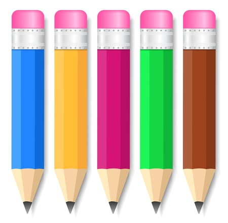 Set of small pencils Stock Vector - 13723465
