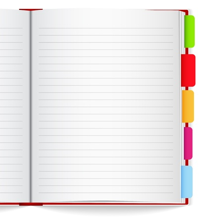 Notebook with bookmarks Vector
