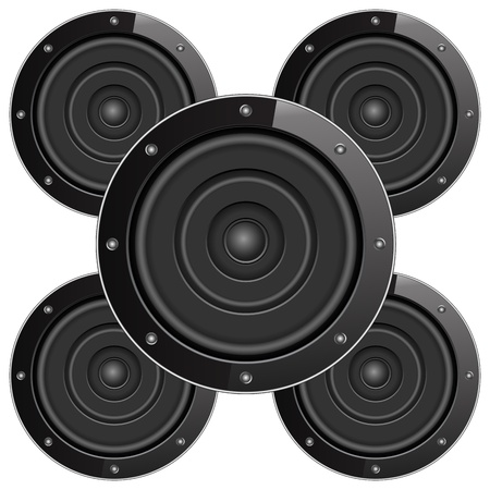 Black sound speackers Vector