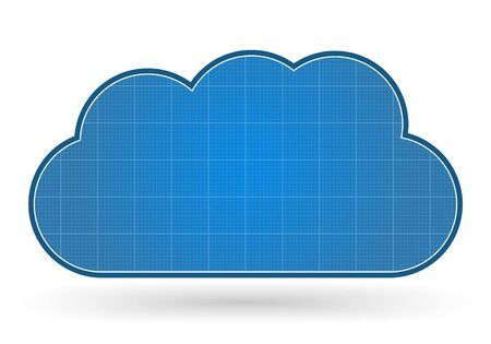 Blueprint cloud Vector