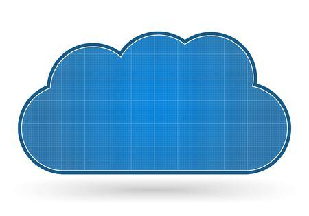 Blueprint cloud Vector