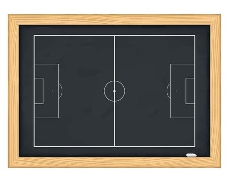 soccer fields: Football field on blackboard