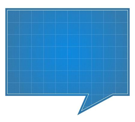 graph paper: Blueprint Speech Bubble Illustration