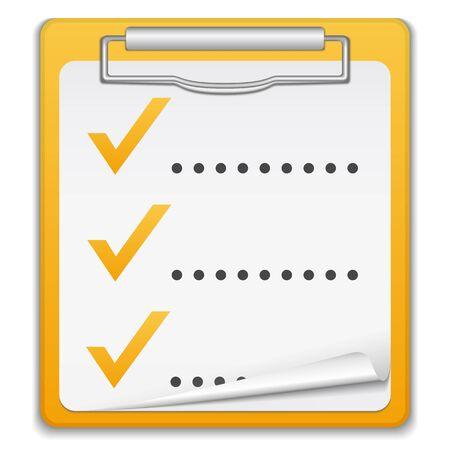 Clipboard with checklist Stock Vector - 14003772