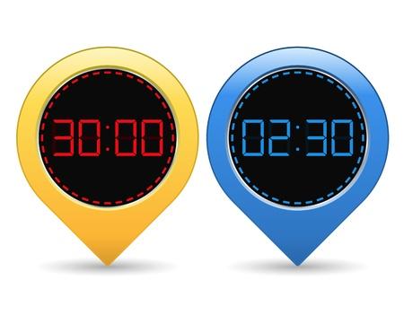 digital timer: Digital Timers Illustration
