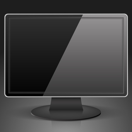 Black Computer Monitor Vector