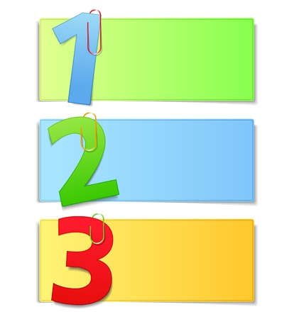 Paper cards with numbers Vector